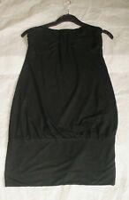 TOPSHOP BLACK STRETCH STRAPLESS TOP/MINI DRESS SIZE UK 12 EURO 40