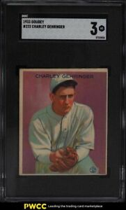 1933 Goudey Charley Gehringer #222 SCG 3 VG