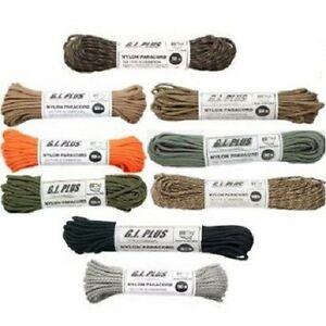 308/303/180/194/311/397 Rothco 550lb Black Nylon 100 Ft Cord - Us Made
