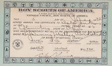 COLUMBUS, Ohio, Merit Badge Card, Boy Scouts of America , 1932