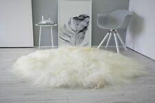 Fluffy Fur Icelandic Sheepskin Rug Round Circle Shape Super Soft Long White Wool