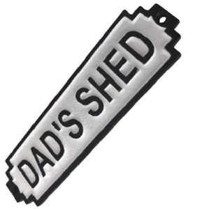 RETRO STYLE DADS SHED SIGN MAN CAVE PLAQUE RETRO STYLE FATHERS DAY GIFT DAD