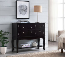 Kings Brand Furniture - Wood Sideboard Buffet, Console Table, Espresso