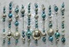 10 MERCURY GLASS Garland Bead TINSEL Icicle ORNAMENTS Christmas Easter Czech