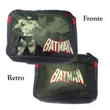 DC COMICS Tracolla regolabile BATMAN scuola/tempo libero grigia in eco-pelle