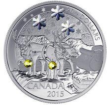 2015 CANADA $20 1oz .9999% FINE SILVER Holiday Reindeer  - SWAROVSKI® CRYSTAL