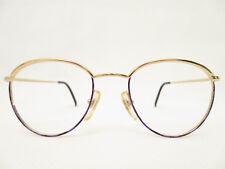 80er true Vintage Sunjet Carrera DAMEN 49□19 Brillenfassung rund gold Panto NEU