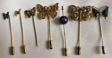 Stick Pins Hat Pins Cloisonne Guilloche D Lot Of 7 Antique Vtg Enamel Butterfly