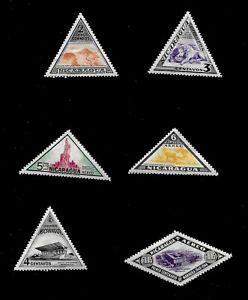 Nicaragua Postal Stamps Mint  H*  - Lot of 6  - Vivid Color
