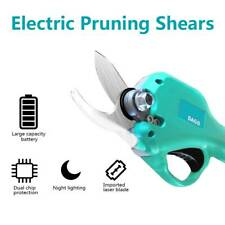 30mm Electric Pruning Shears Cordless Cutter Trimmer Scissors Branch Tool Blade