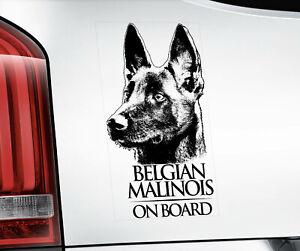 Belge Malinois Autocollant,Chien Fenêtre Décalque Voiture Autocollant Cadeau