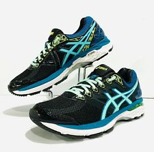 Woman's ASICS GT 2000 4 Running Shoes. Size 8~Black/Pool Blue/Flash Yellow