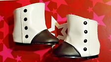 American Girl Marie Grace Black and White Meet Boots VHTF RARE