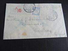 Nederland Port 78 op brief TJIELENGKAMP BATAVIA naar Den Haag