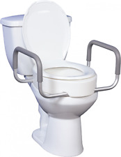 Elongated Raised Toilet Seat With Arms Elevated Toilet Seat Riser Medical Help