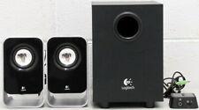 Logitech Multimedia Speakers PC Computer Subwoofer 2.1 System Surround Black