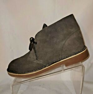 Clarks Gray Leather Lace Up Desert Boot Men's Size 9.5 Medium