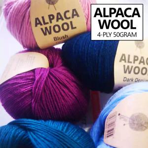 Malli 50g Alpaca Wool Blend 4ply Knitting Yarn Balls Crochet Wools Super Soft