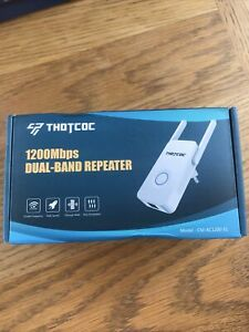 THOTCOC WiFi Range Extender 1200Mbps,Wireless WiFi Repeater Signal Booster, 2.4