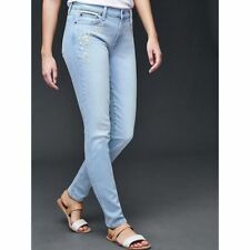 Gap Women's Embroidered Authentic True Skinny Jeans Size 24p 00 Petite