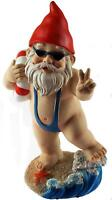 Large 21cm Funny Gnome Garden Ornament - Mankini / Life Ring Design