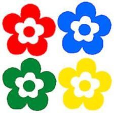 16 bunte Blumen-Aufkleber für Auto, Tuning, Deko, Bad