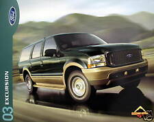 2003 Ford Excursion SUV new vehicle brochure - MIDYEAR