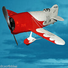 """1/12 Scale FREE FLIGHT RUBBER POWER 21""""Span  MODEL AIRPLANE PLANS GEE BEE R1"""