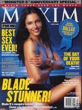 Maxim Magazine April 2002 Leonor Varela Chandra West William Shatner Blade Stunn