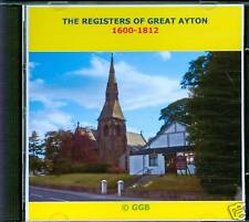 THE REGISTERS OF GREAT AYTON 1600-1812