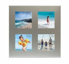 4 Picture Silver Colour Photo Frame - 4 Photos of 2.5 x 2.5 Inches (6 x 6cm)