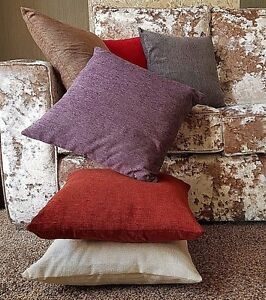 "Cushion large plain Heavy CHENILLE cushion covers or cushion 6 colour17"" 21"" 23"""