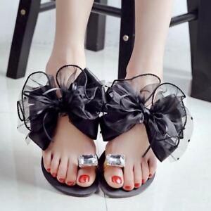 Women flip flops butterfly-knot slippers plus size