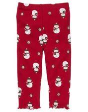 NWT 12-18 mo Gymboree ALPINE SWEETIE Red Snowman Print Leggings
