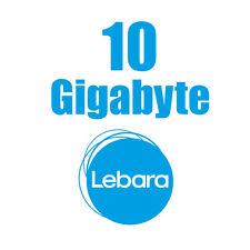 D1 Telekom Netz 10 GB Paket 28 Tage dabei Lebara mobile Prepaid Karte wie Xtra