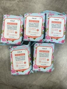 CALA MAKE-UP REMOVER CLEANSING TISSUE:Rose Water Vitamin E (5 Pack)(150 Wipes)