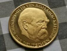 Gold Medaille Otto Von Bismarck 100 Jahre Kaiser Proklamation 18.Jan 1871-1971