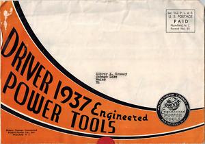 1937 Driver Engineered Power Tools, Walter Turner Company Advertisement Brochure