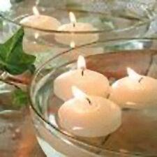 50 Large 8cm Floating Ivory White Wax Candle 6-7 hr burn wedding party bowl pool