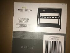 NEW Threshold Stainless Steel Top Kitchen Island - Black.
