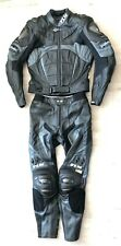 2- tlg. Lederkombi FLM Darkness Gr. 50 Schwarz Neu Leather Suit Motorrad Kombi