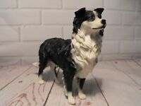 BORDER COLLIE DOG FIGURINE ORNAMENT FIGURE BLACK AND WHITE SHEEPDOG GIFT FAST PP