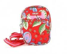 """OILILY Shoulder Pouch XS NWT Winter Blossum Purse Colorful Red Floral """"SCARLET"""""""