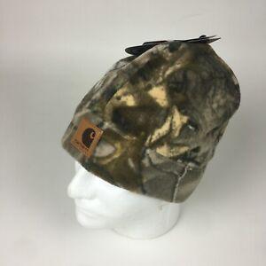 CARHARTT x REALTREE Camo Fleece Hat Cap Beanie Woodland Hunting A294
