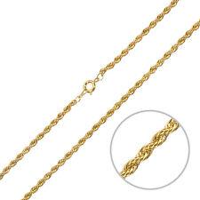 """Enchapado En Oro Twisted Cuerda Cadena 18 """"Collar Con Broche Para Molduras (g93/10)"""