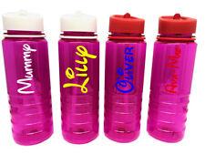 Personalisierte Benutzerdefiniert Wasser Trinkflasche Stroh Deckel Disney Namen