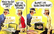 POSTCARD  COMIC    BAMFORTH    HM  Customs  Nothing  to  Declare   Weed