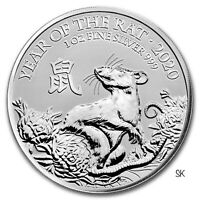 2020 Great Britain Year of the Rat 1 oz Silver Coin