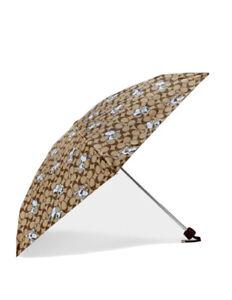 Coach X Peanuts UV Protection Mini Umbrella In Signature Snoopy Print 4325 NWT