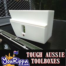 LHS WHITE SPORTS UTE TOOL BOX UNDERBODY POLY TIEDOWNS ROPES 4X4 4WD UTES NEW